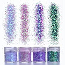 NICOLE DIARY 4 Boxes Unicorn Chunky Cosmetic Glitter Gradient Paillette Iridescent Flakies Nail Sequins Manicure Nail Art Decoration
