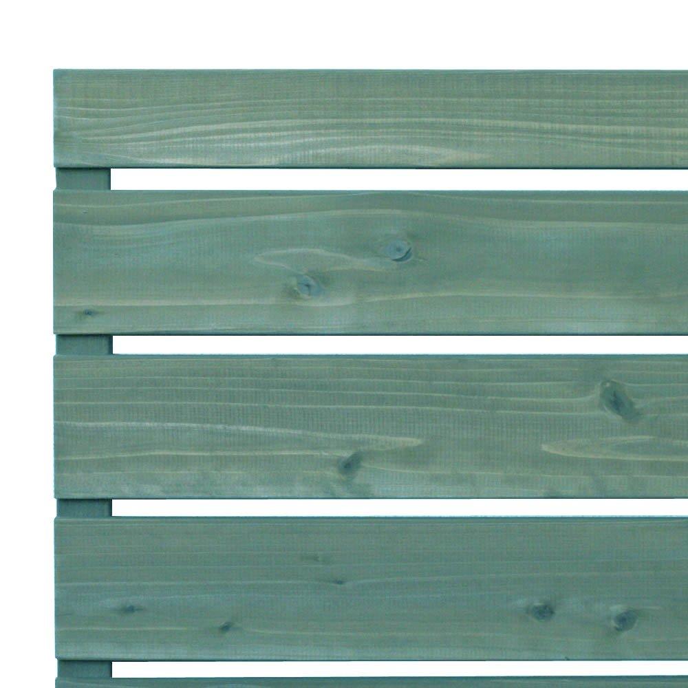 枠付き フェンス 横板C(隙間15ミリ) 国産杉【上下枠】 幅1300×高さ1477×奥行36mm WB(ホワイトベージュ)色 B0766JYWC4 幅1300mm,WB(ホワイトベージュ)