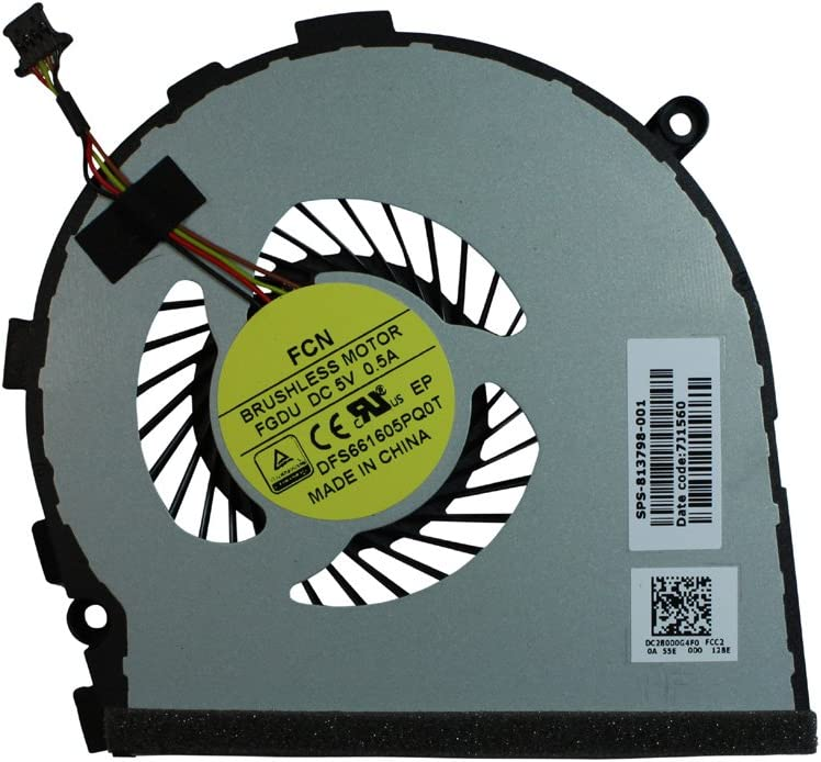 Power4Laptops Replacement Laptop Fan for HP 813798-001, HP Envy 17-n000na, HP Envy 17-n000nf, HP Envy 17-n000ng, HP Envy 17-n000np