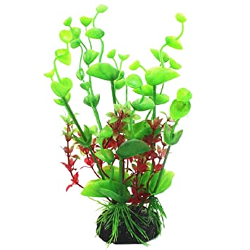 Plantas acuáticas artificiales de plástico para acuario, decoración de césped de agua para acuario o pecera.: Amazon.es: Jardín