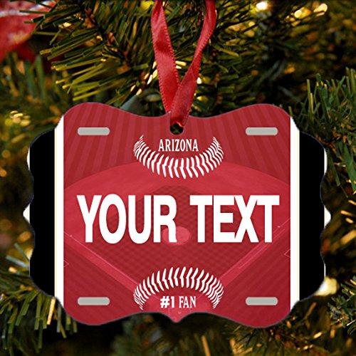 BRGiftShop Personalize Your Own Baseball Team Arizona Christmas Tree Ornament