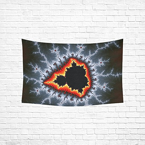 QYUESHANG Tapestry Mandelbrot Fractal Abstract Art Graphic 293454 Tapestries Wall Hanging Flower Psychedelic Tapestry Wall Hanging Indian Dorm Decor for Living Room Bedroom 60 X 40 Inch