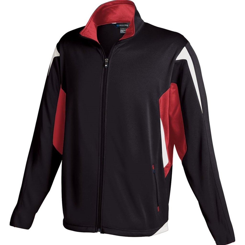 Holloway Youth Dedication Jacket (Small, Black/Scarlet/White)