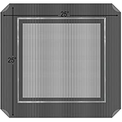 """Paws & Pals Medium 25"""" x 25"""" Inch Replacement Cover for Steel-Framed Portable Elevated Pet Bed Cat/Dog -Gray"""