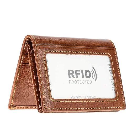 7fc388e9345e Amazon.com: Women's Genuine Leather RFID Small Card Holder Wallet ...