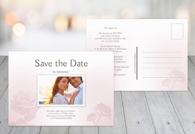 Kartenparadies Hochzeitskarte Save-the-Date Rosa, hochwertige Save the Date Date Date Karte zur Hochzeit   30 Karten - (Format  148x105 mm) Farbe  HellRosa B01N6T4ETP | Schönes Aussehen  | Preisreduktion  | Billig ideal  3b9c13