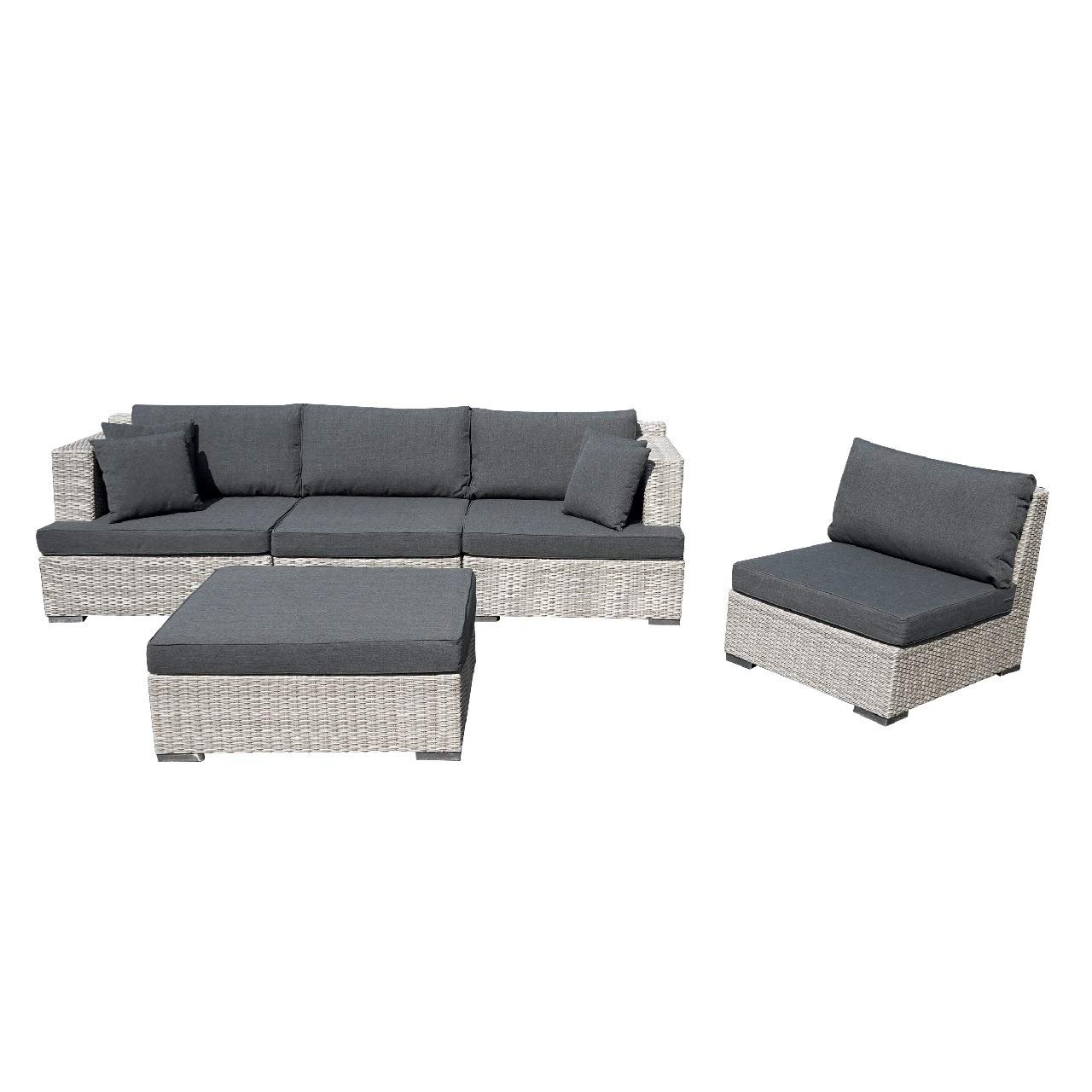 Terrific Kimco 5Pc Set York Module Sofa Patio Furniture Set Home Interior And Landscaping Mentranervesignezvosmurscom