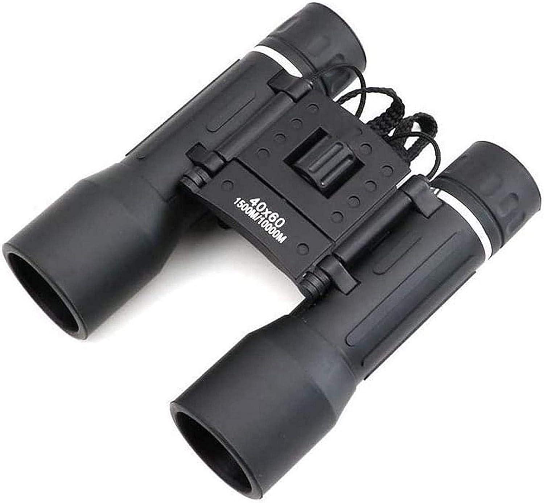 Binoculares, telescopio Binoculares de Lente óptica de Enfoque Dual 40X60 Telescopios potentes Binocular de Mano de Metal 1500M / 10000M Revestimientos Verdes, para Interiores/Exteriores