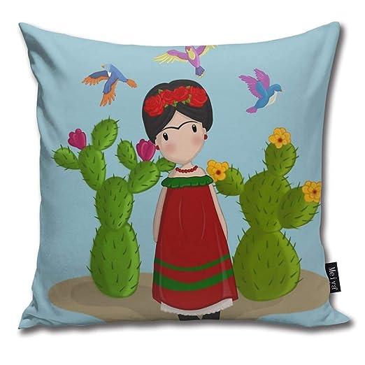 Sotyi-ltd Frida Kahlo - Funda de Almohada Decorativa para ...