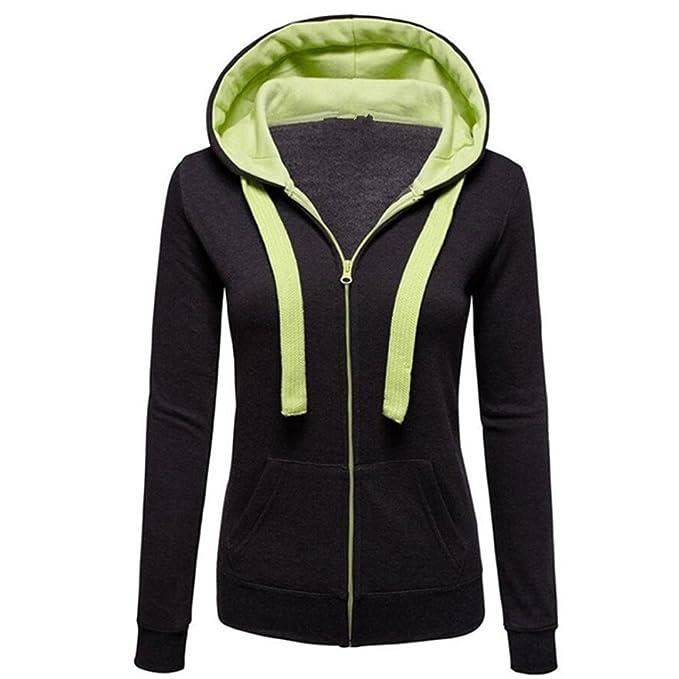 4990baa9ef60e SINMA Women Fall Casual Pullover Zipper Pocket Wide Drawstring ...
