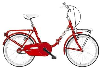MBM Angela Bicicleta Plegable, Rojo, M