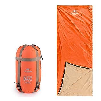 Naturehike 4 temporada impermeable ultraligero Envelope saco de dormir Liner. Camping, Senderismo 77 x 30 en (195 x 75 cm), naranja: Amazon.es: Deportes y ...
