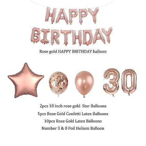 32 globos de papel de aluminio surtidos de 30 años para la ...