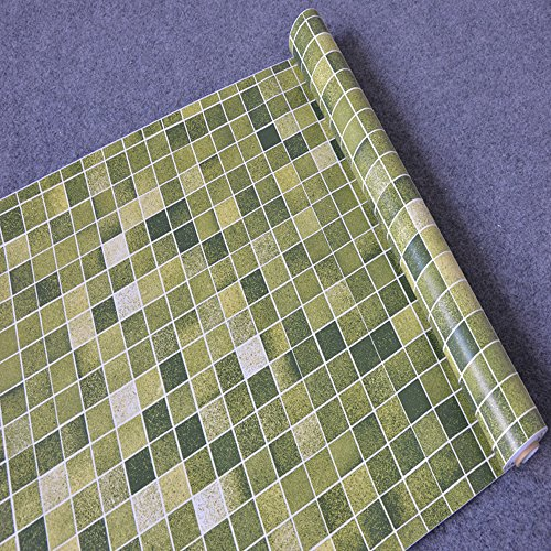- Yifely Green Mosaic Contact Paper Self-Adhesive Shelf Drawer Liner Countertop Sticker 17.7 Inch by 9.8 Feet