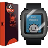 Pebble Time Screen Protector, Skinomi TechSkin (6-Pack) Full Coverage Screen Protector for Pebble Time Clear HD Anti-Bubble Film