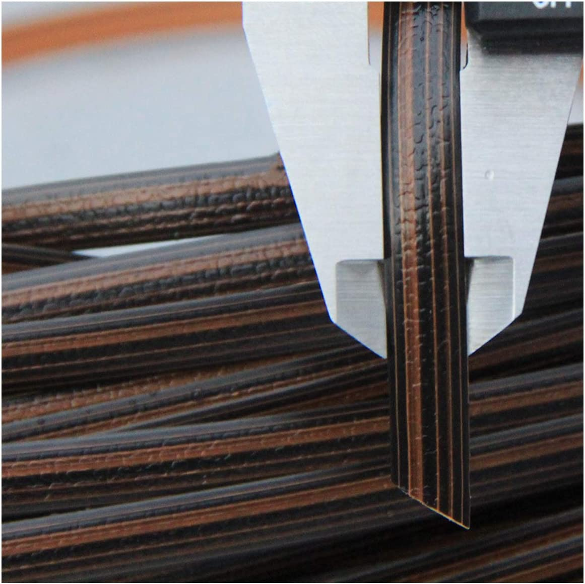 Black Synthetic Rattan Repair Knit Material Plastic Rattan for DIY Home Furniture Chair Table Storage Basket Queenbox 8mm x 10m Gradient Flat Rattan Weaving