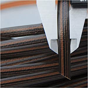 Queenbox 8mm x 10m Gradient Flat Rattan Weaving, Synthetic Rattan Repair Knit Material Plastic Rattan for DIY Home Furniture, Chair Table, Storage Basket, 01 Coffee