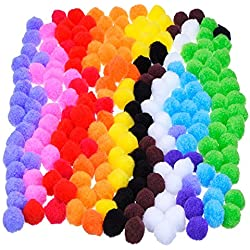 Pompoms for Craft Making, 200 Pcs.