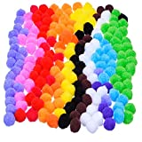 Outus Pompoms for Craft Making and Hobby Supplies 0.9 Inch, 200 Pieces, Assorted Colors