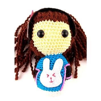 Overwatch - peluche - D.VA - Amigurumi muñeca (hecha a mano) -