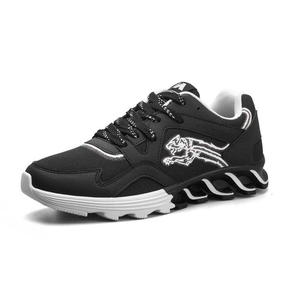 FLYMD Running Shoes Zapatos Deportivos de Primavera y Verano, Zapatos Casuales de los Hombres, Zapatos Coreanos de los Amantes de la versión (23.0-27.0) Sneakers for Men 38 2/3 EU|Negro