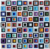 Windows Multicolored Glass Resin Mosaic Back Splash Tile