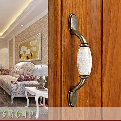 125mm Marbling Cabinet Cupboard Drawer Pull Handle Decor Generic