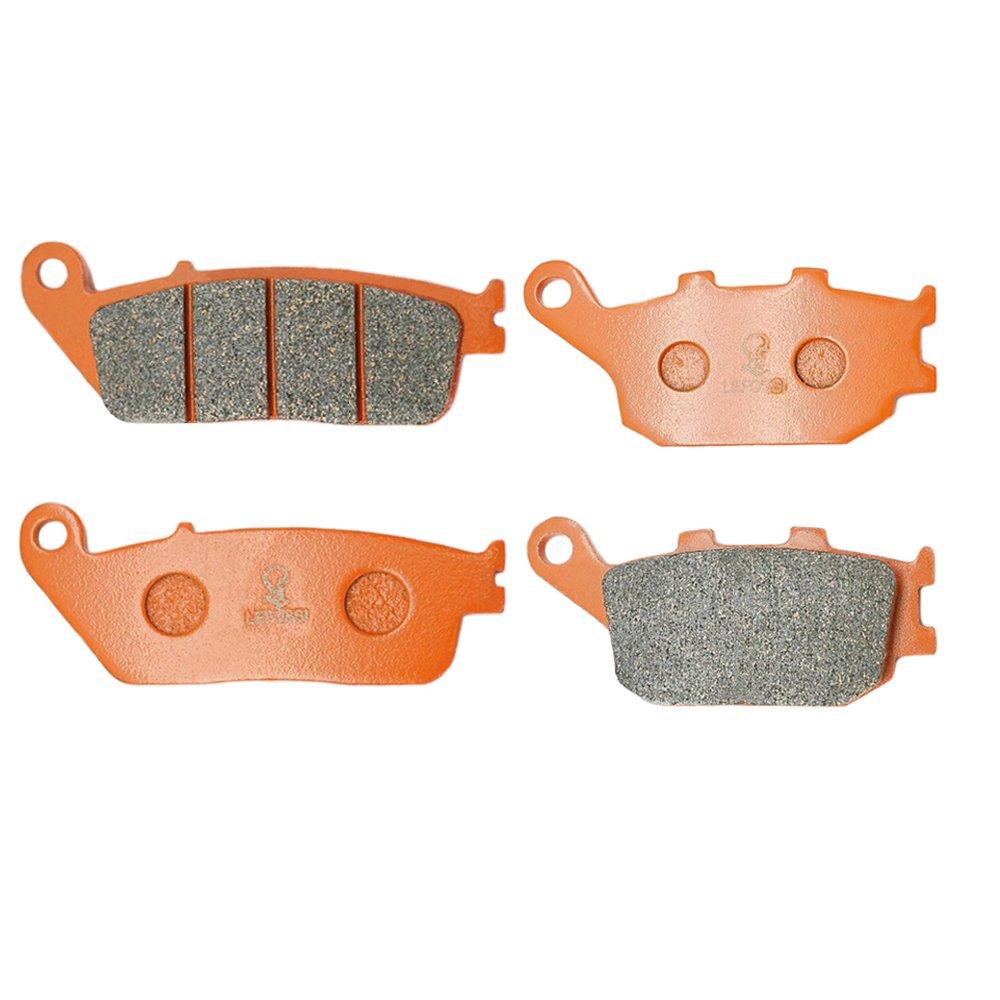 Lefossi Front Rear Carbon Fiber Brake Pads Brakes for Honda VTX 1300 S Retro C R T 2003-2015 2009 2010 2011 2012 2013 FA196F FA174R