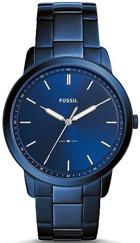 Fossil Reloj Analógico para Hombre de Cuarzo con Correa en Acero Inoxidable FS5461: Amazon.es: Relojes