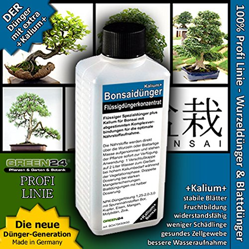 Bonsai-Dünger NPK Kalium+ HIGHTECH Dünger zum düngen von Bonsai Pflanzen, Premium Flüssigdünger aus der Profi Linie