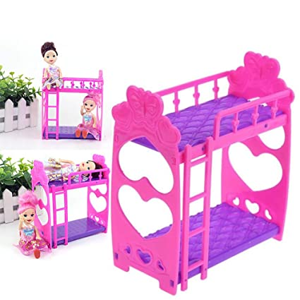Amazon Com Yapthes 1pc Doll House Furniture Double Bed Frame