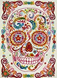 KC CUBS Boy and Girl Bedroom Modern Decor Area Rug and Carpet Collection For Kids and Children Rainbow Happy Sugar Skull (5' 3'' x 7' 3'')