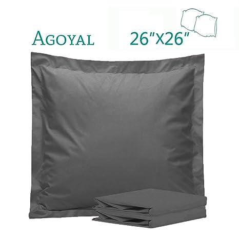 Amazon.com: Agoyal Euro - Juego de 2 fundas de almohada ...