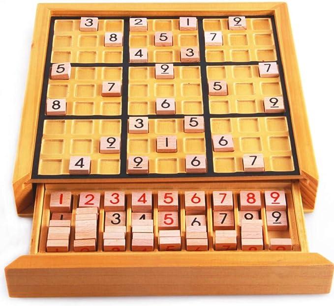 Tablero De Juego De Madera Sudoku Número De Madera Del Rompecabezas De Sudoku Juego De Mesa De Madera Juego Educativo For Los Juguetes Educativos For Niños Kids Adecuado Para Juegos Familiares: Amazon.es: