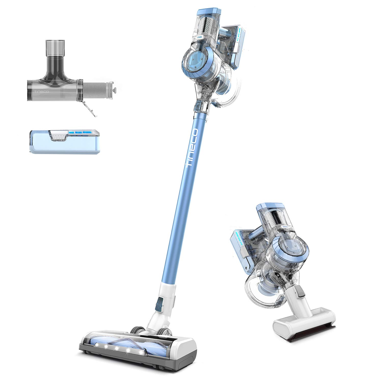 Tineco A11 Hero Cordless Vacuum, Stick Vacuum Cleaner 450W Digital Motor Up to 60 Minutes Dual Charging Powerhouse, High Power, Lightweight Handheld. 2 Year Warranty. by Tineco