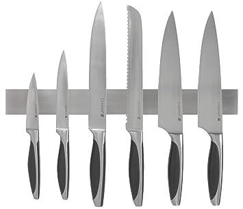 Barra magnética para cuchillos de 40 cm, marca Coninx. Soporte colgante y magnético para cuchillos de acero inoxidable. Solución segura, confiable y ...