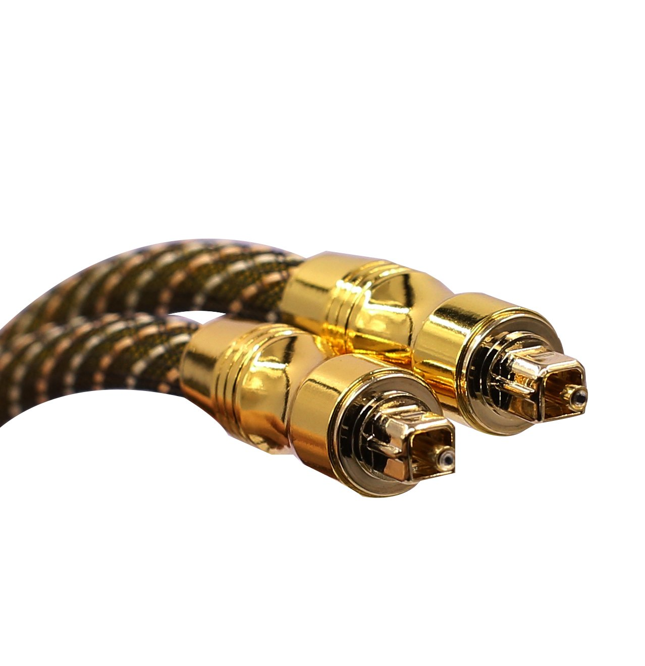 SiGuTie Optical Audio Cable 10FT,Home Theater Gold Plated Optical Cables Male to Male Braided Cord for DVD, Sound Bar, HDTV, PS3, Xbox