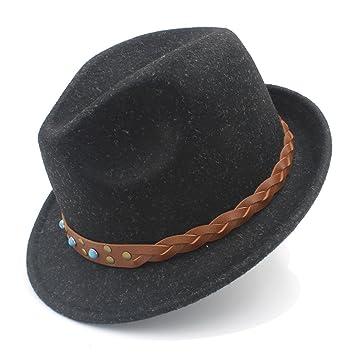 GHC Gorras y Sombreros para Caballero, Mujeres de Lana Pura Chapeau Femme Sombrero de Fedora