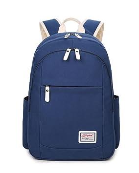 Backpack Mochilas Escolares Mujer Mochila Escolar Bolsa Casual Colegio Bolso Para Chicas Azul Marino: Amazon.es: Equipaje