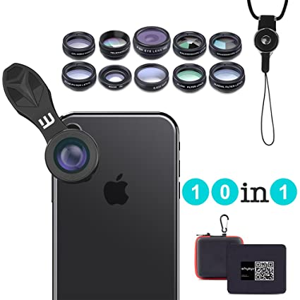 a7ec1cfdc2e 10 in 1 Clip-on Cell Phone Camera Lens Kit