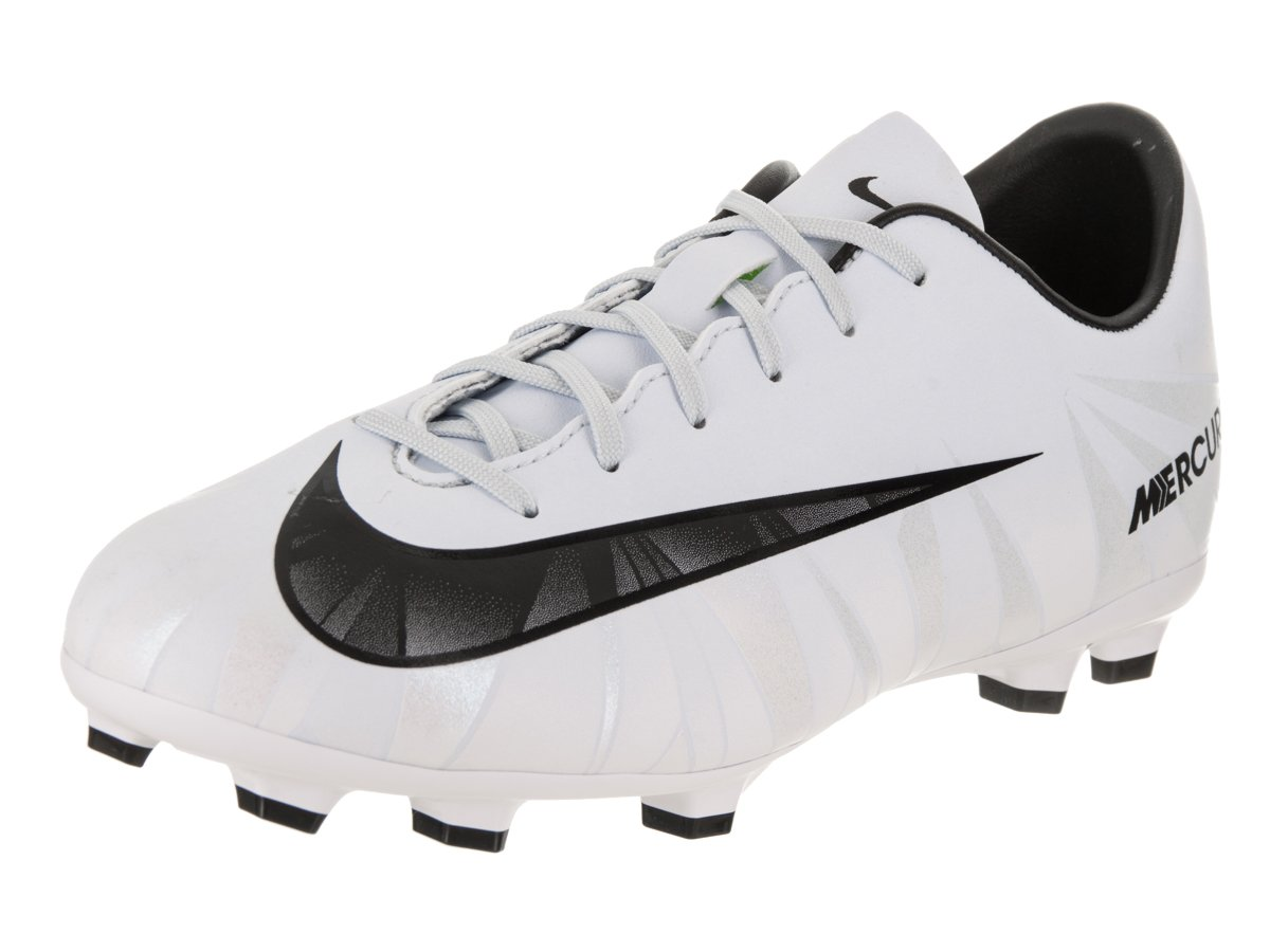 67c60afdf74 Galleon - Nike Youth Mercurial Vapor XI CR7 FG Cleats  White  (5.5Y)