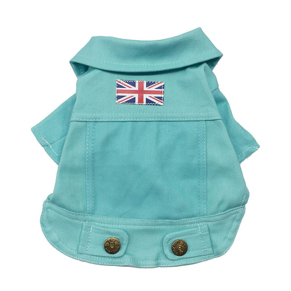 Clearance Pet Clothes Cinsanong Rainbow Puppy Clothes Fashion Denim Cat Dog Shirt Lovely Color Costume for Dog
