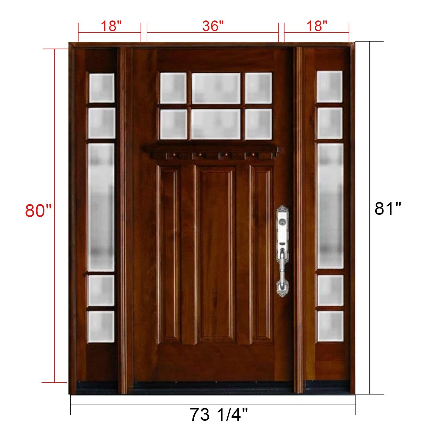 detailed look 4e7cc 553c0 Craftsman 6 Lite Mahogany Wood Prehung Front Door and 18 ...