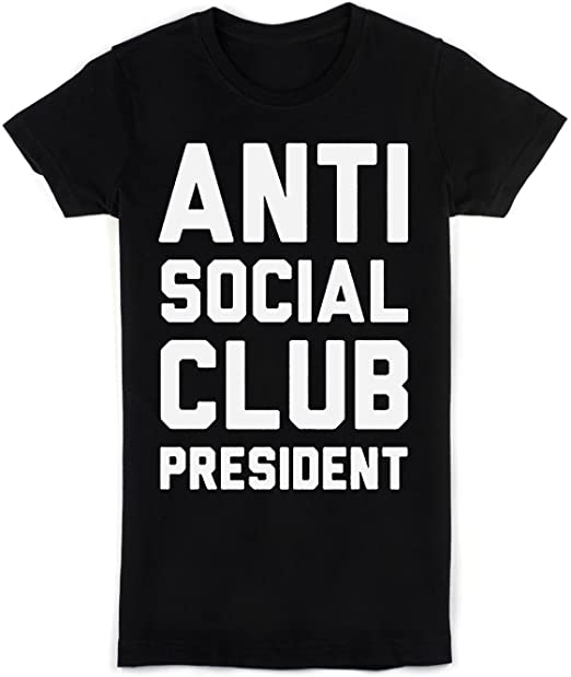 idcommerce Antisocial Club President Camiseta para Mujer XX-Large: Amazon.es: Ropa y accesorios