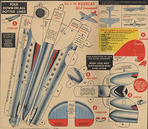 (Allsweet Margarine Air Racer Earl Ortman Gliding Model Douglas DC-3 1938 premium)