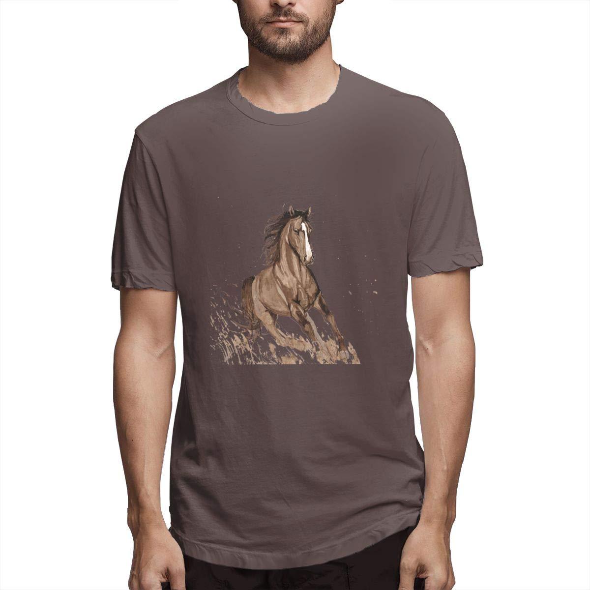 Seuriamin Vector Ink Horse Casual Hiking Short Sleeve Shirts