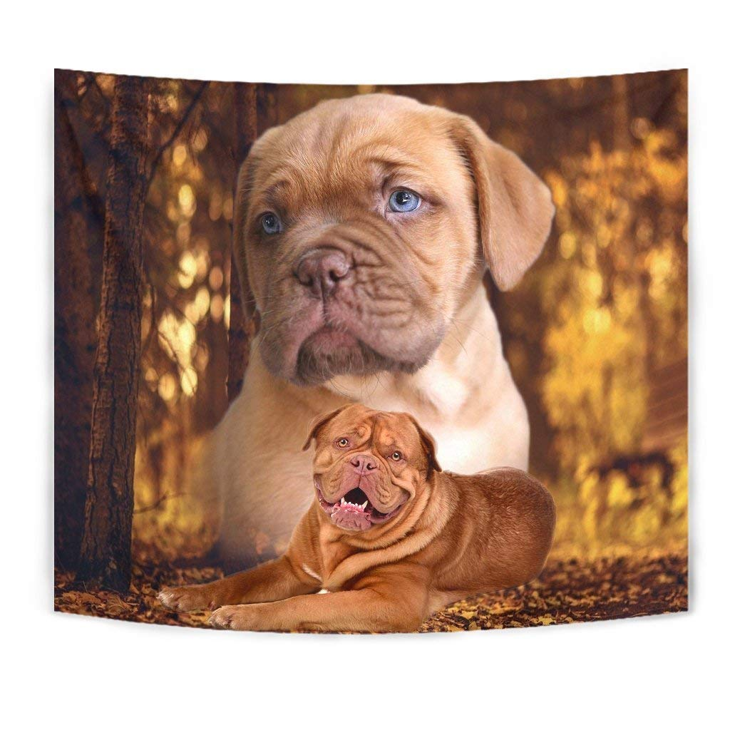 Bordeaux Mastiff Dog Print Tapestry by Simply Cool Trends