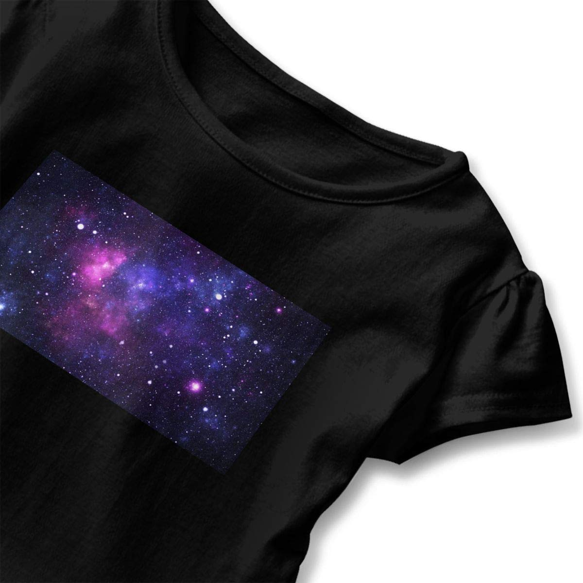 GNKTGBO2O Toddler Baby Girl Galaxy 100/% Cotton T Shirts Short Sleeve Ruffle Tee Basic Tops
