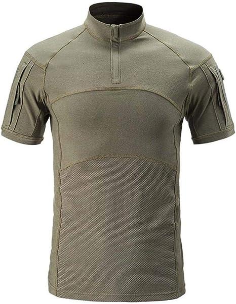 CARWORNIC Mens Assault Military Tactical Combat Shirt Short Long Sleeve Outdoor Army T Shirt