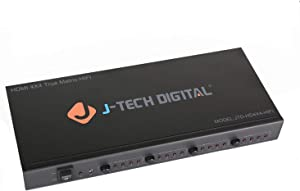 J-Tech Digital ProAV Ultra HD 4K HDMI Matrix 4X4 Switcher 4 Ports Inputs and 4 Port Outputs Supports 4Kx2K@30HZ, HDCP, 3D & Deep Color, HDMI 1.4 Compliant with Control4 Driver Available